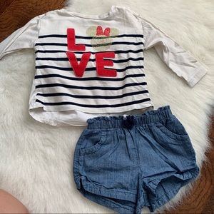 Gap Minnie Mouse print outfit
